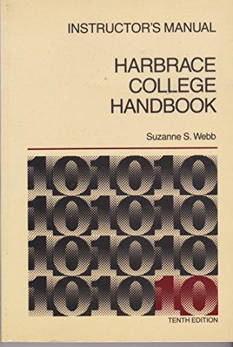 9780155318526: Instructor's Manual Harbrace College Handbook