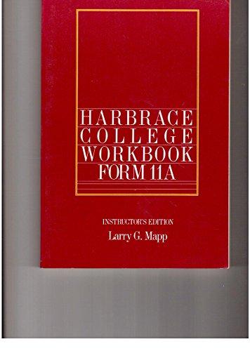 9780155318656: Harbrace College Handbook, Form 11a, Instructor's Edition