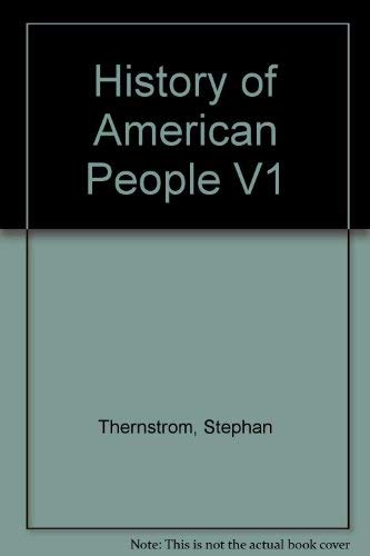 9780155365308: History of American People V1