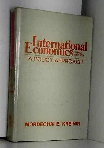 9780155415409: International Economics: A Policy Approach