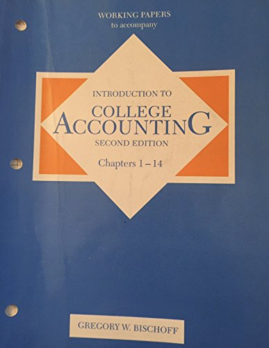 9780155416987: Introduction to College Accounting