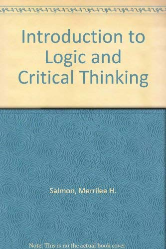 9780155430624: Introduction to Logic and Critical Thinking