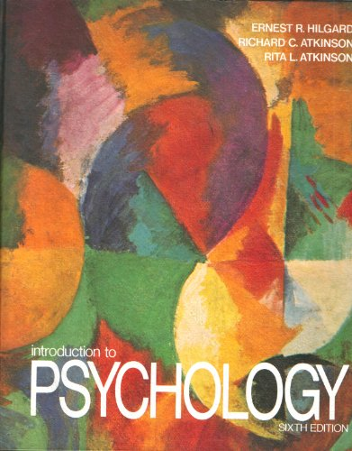 9780155436572: Introduction to Psychology