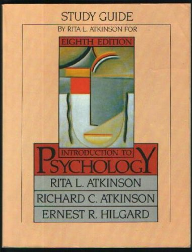 9780155436794: Study Guide for Atkinson, Atkinson and Hilgard's Introduction to Psychology, Eighth Edition