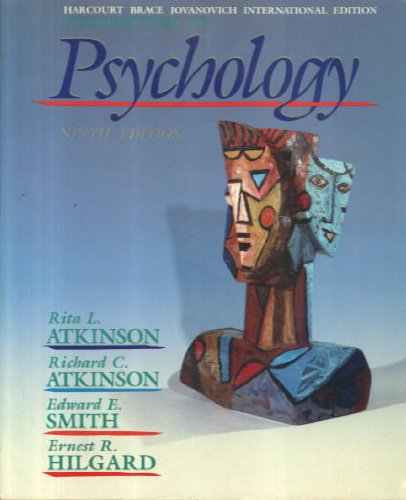 Introduction to Psychology (0155436864) by Hilgard, Ernest R.; Atkinson, Richard C.