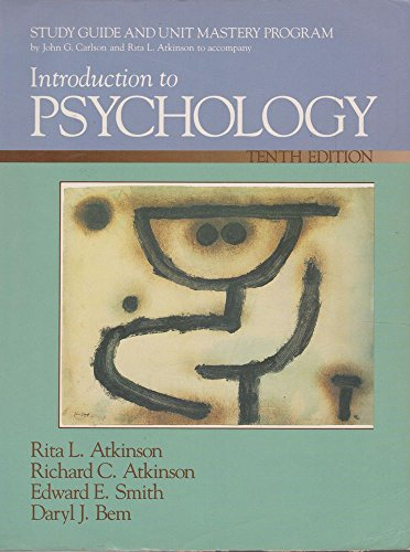 9780155436930: Introduction To Psychology - Study Guide And Unit Mastery Program