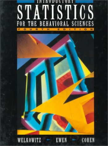 9780155459878: Introductory Statistics for the Behavioral Sciences