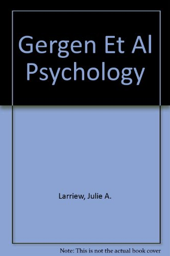 9780155466807: Gergen Et Al Psychology