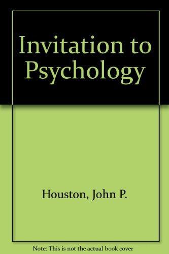 9780155469136: Invitation to Psychology