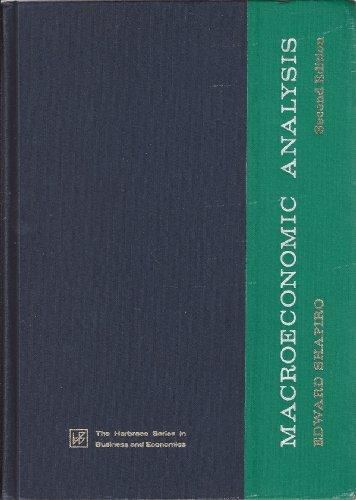 9780155512023: Macroeconomic Analysis