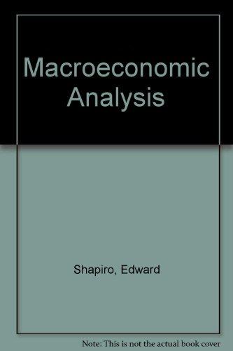 9780155512085: Macroeconomic Analysis