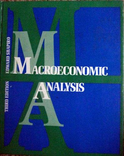 Macroeconomic Analysis Edward Shapiro Pdf