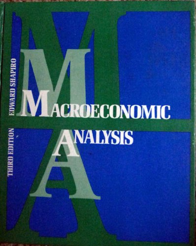 Macroeconomic Analysis: Edward Shapiro