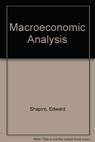 9780155512122: Macroeconomic Analysis
