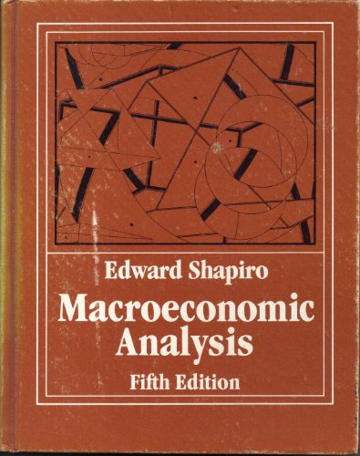 9780155512153: Macroeconomic Analysis