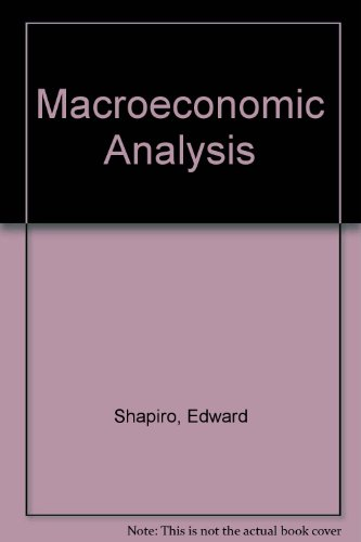 9780155512184: Macroeconomic Analysis