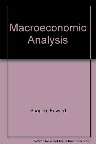 9780155512184: Macroeconomic Analysis