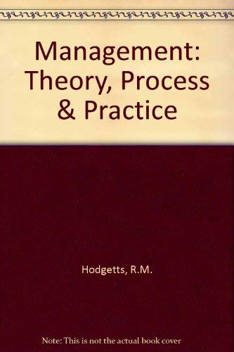 9780155546646: Management Theory Process and Practice