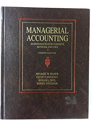 9780155547681: Managerial Accounting: An Introduction to Concepts, Methods and Uses (HBJ accounting series)