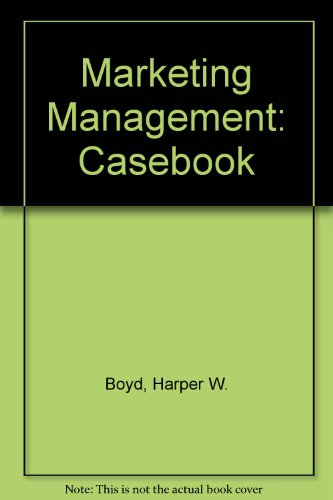 9780155551121: Marketing Management: Casebook