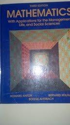 9780155552371: Anton Math W/Appl Manmt Life Soc Sci 3e