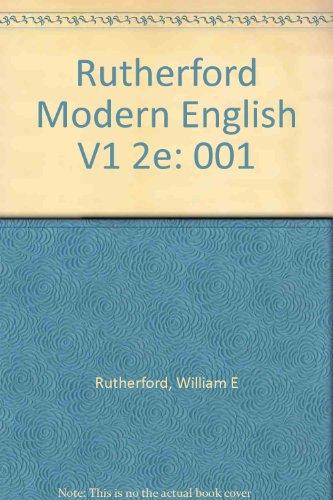 9780155610590: Rutherford Modern English V1 2e: 001