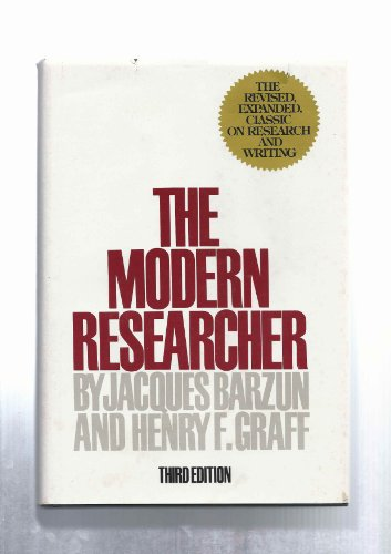 Modern Researcher (015562511X) by Barzun, Jacques; Graff, Henry F.