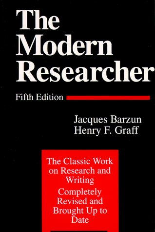 9780155625136: The Modern Researcher