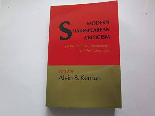 9780155633759: Modern Shakespearean Criticism: Essays on Style, Dramaturgy and the Major Plays