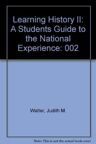 The National Experience : A History of the United States to 1877: John M. Blum; William S. McFeely;...