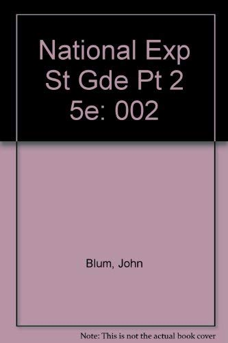 The National Experience: A History of the United States (Study Guide, Pt. 2): Blum, John Morton