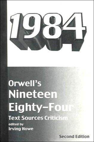 Imagen de archivo de Orwell's Nineteen Eighty-Four: Text, Sources, Criticism (Harbrace Sourcebooks) a la venta por SecondSale