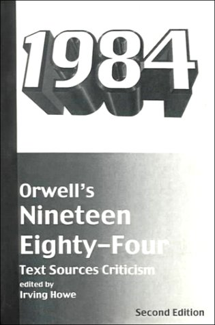 9780155658110: Orwell's Nineteen Eighty-Four: Text, Sources, Criticism (Harbrace Sourcebooks)