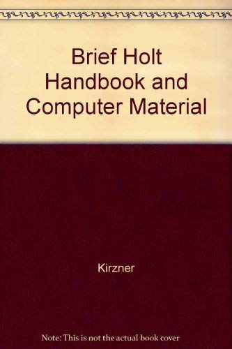 9780155676411: Brief Holt Handbook and Computer Material