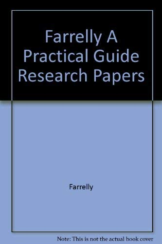 9780155710337: A Practical Guide to Research Papers