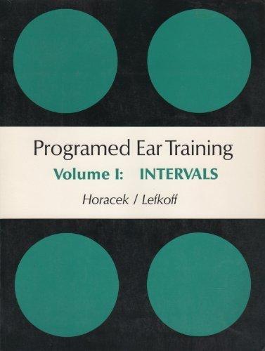 9780155720152: Programmed Ear Training: Intervals v. 1