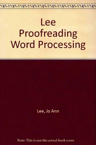 9780155722606: Lee Proofreading Word Processing