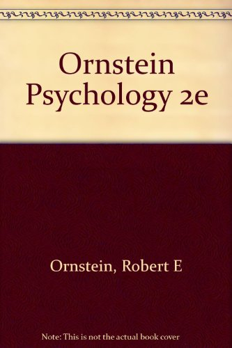 9780155726802: Ornstein Psychology 2e
