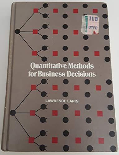 9780155743175: Quantitative Methods for Business Decisions