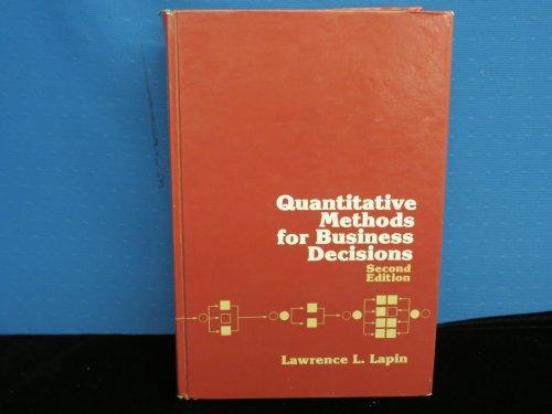 9780155743199: Quantitative Methods for Business Decisions