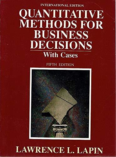 9780155743335: Quantitative Methods for Business Decisions