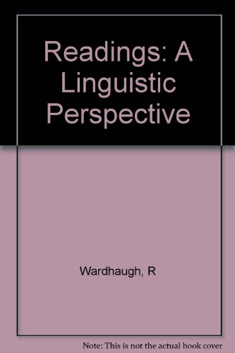 Reading: A Linguistic Perspective (015575551X) by RONALD WARDHAUGH
