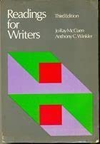 9780155758292: Readings for writers