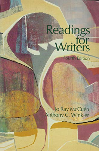 9780155758315: Readings for writers