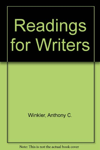 9780155758360: Readings for Writers