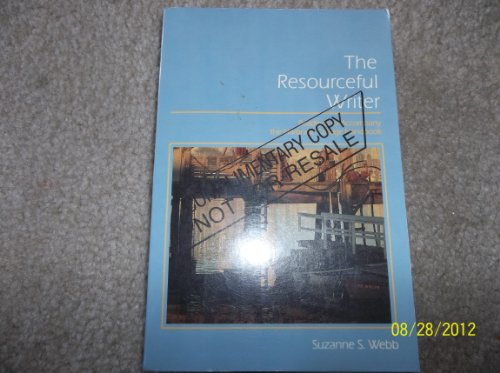 The Resourceful Writer: Readings to Accompany the Harbrace College Handbook (0155766317) by Suzanne S. Webb; John Cunyus Hodges