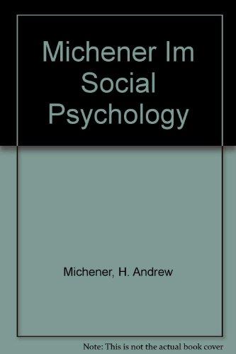 9780155814424: Social Psychology