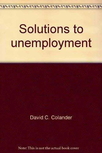 9780155824560: Solutions to unemployment