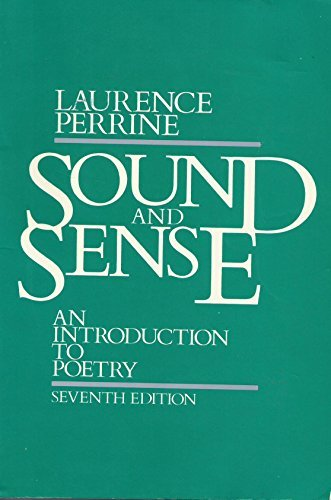 Sound and Sense: An Introduction to Poetry (0155826085) by Laurence Perrine