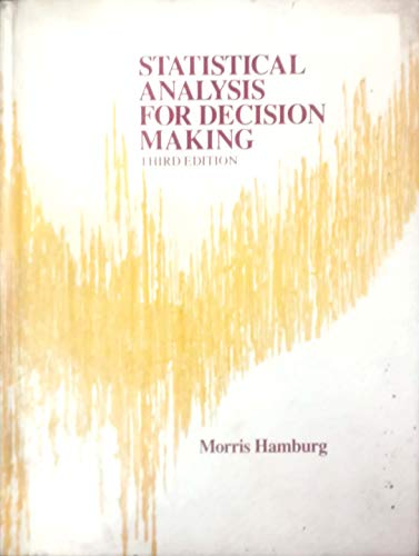9780155834507: Statistical Analysis for Decision Making